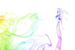 Rainbow color Lady and smoke background royalty free stock photography