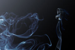 Lady and  smoke background Royalty Free Stock Photo