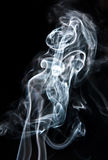Lady in the smoke, illusion. Stock Image