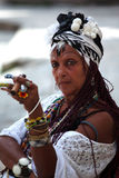 Lady smoking Stock Photography