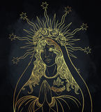 Lady of Sorrow. Devotion to the Immaculate Heart of Blessed Virg Royalty Free Stock Photography