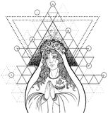 Lady of Sorrow. Devotion to the Immaculate Heart of Blessed Virg Royalty Free Stock Photos