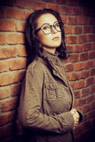 Lady in spectacles Royalty Free Stock Photography