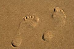 ślady stóp Zdjęcie Stock