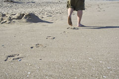 ślady stóp Fotografia Stock
