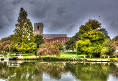 Lady St Mary church Wareham Dorset historic market town Dorset situated on the River Frome in colourful HDR Stock Images