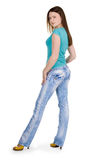 Lady standing Stock Images