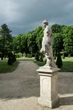 Lady statue in french garden Royalty Free Stock Images