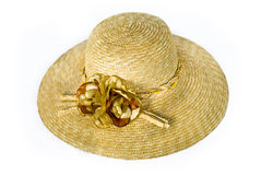 Lady Straw Hat With Flower Royalty Free Stock Images