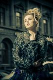 Lady on street royalty free stock photography