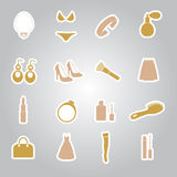 Lady stuff needs stickers eps10 Royalty Free Stock Images