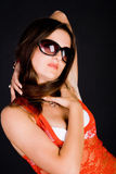 Lady in sunglasses Stock Photos