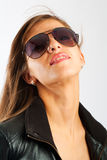 Lady in sunglasses Stock Images