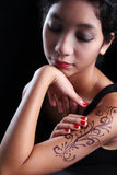 Lady with Tattoo Stock Photos