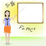 Lady teacher. Royalty Free Stock Photos