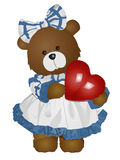 Lady teddy Royalty Free Stock Photography