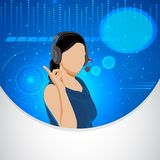 Lady Telephone Operator Royalty Free Stock Photo