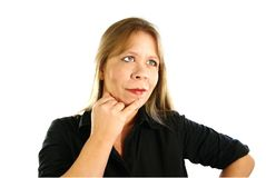 Lady Thinking Stock Photos