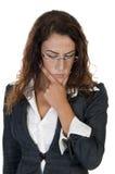 Lady thinking something Stock Image