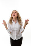 Lady thrilled. Stock Photography