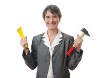 Lady with tools Stock Photography