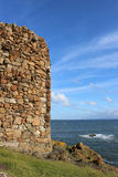 Lady Tower and Bass Rock, Firth of Forth, Fife Stock Photo