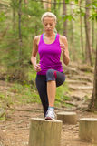 Lady training outdoors. Royalty Free Stock Images