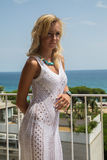 Lady in transparent  Lace Dress Stock Photos