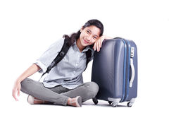 Lady In Travel Royalty Free Stock Images