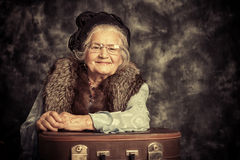 Lady traveller Stock Images