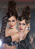 Lady twins Royalty Free Stock Images