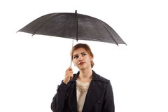Lady with an umbrella Stock Photo