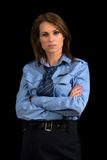 Lady in a uniform of police officer Royalty Free Stock Photos