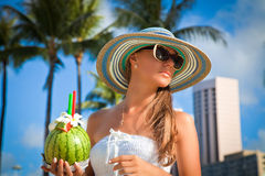 Lady at vacation, summer vacations concept. Stock Photo