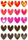 Lady Valentine Love Sets_eps Stock Photography