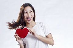 Lady On Valentines Day Royalty Free Stock Photos