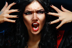 Lady Vamp Style Stock Photo