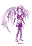 Lady vampire. Hand-drawn picture to the Halloween theme: lady vampire Royalty Free Stock Images