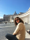 Lady at Vaticano Royalty Free Stock Photography