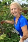 Lady vegetable gardener Royalty Free Stock Photos