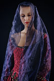Lady in veil Royalty Free Stock Image
