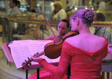 Lady Violinist Stock Images