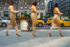 Lady Walking Royalty Free Stock Image