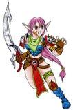 Lady warrior Royalty Free Stock Image