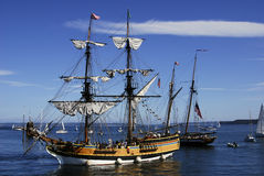 Lady washington. The lady washington in port Stock Photography