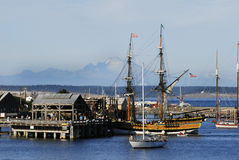 Lady Washington in port. Lady Washington at Portt Townsend Royalty Free Stock Image
