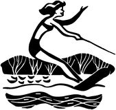Lady Water Skiing Royalty Free Stock Photo