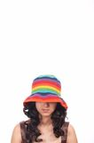 Lady wearing a hat Stock Photography