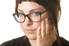 Lady Wearing Nose Ring Royalty Free Stock Photo