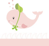 Lady Whale. Illustration of a cute lady whale Vector Illustration